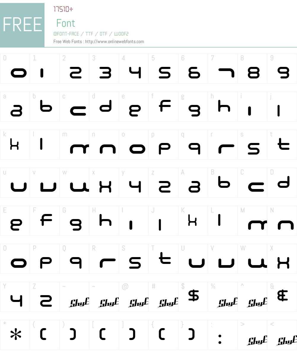 SF Technodelight NS Font Screenshots
