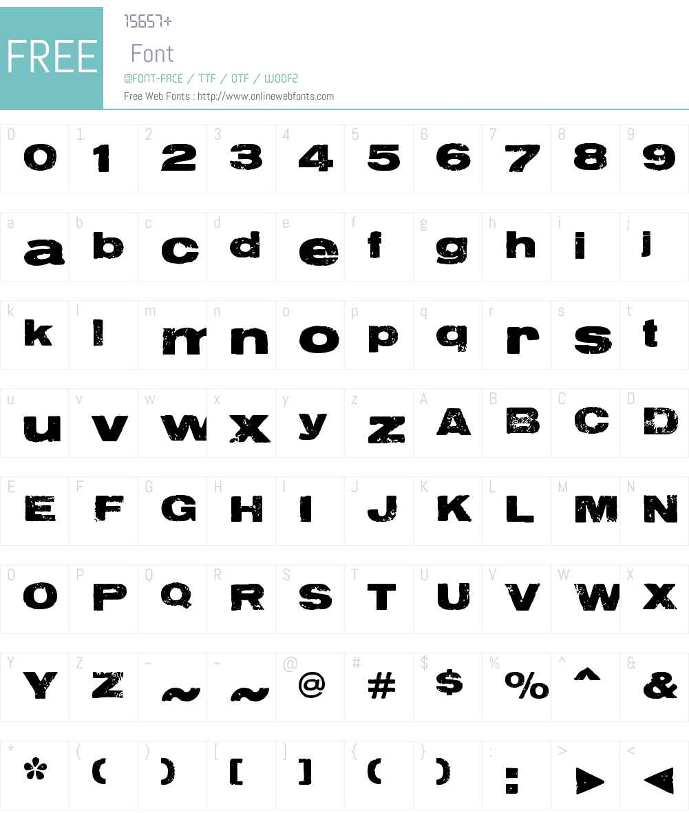 LetterpressAuroraW00-Rg Font Screenshots
