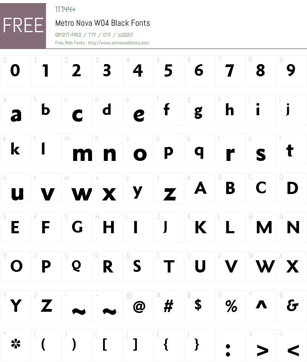 Metro Nova Font Screenshots
