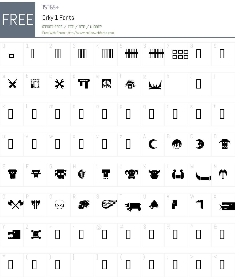 Orky Font Screenshots