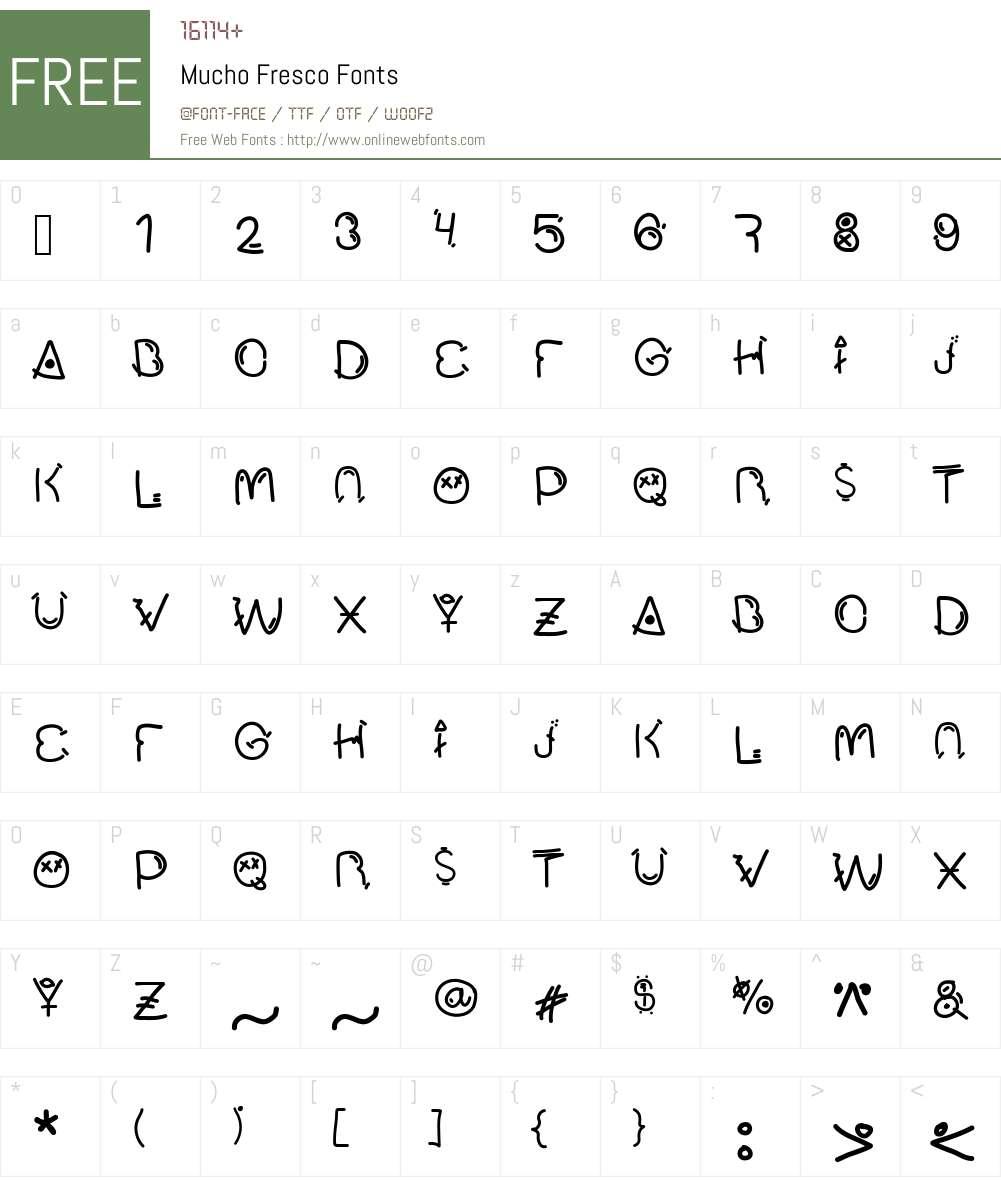 Mucho Fresco Font Screenshots
