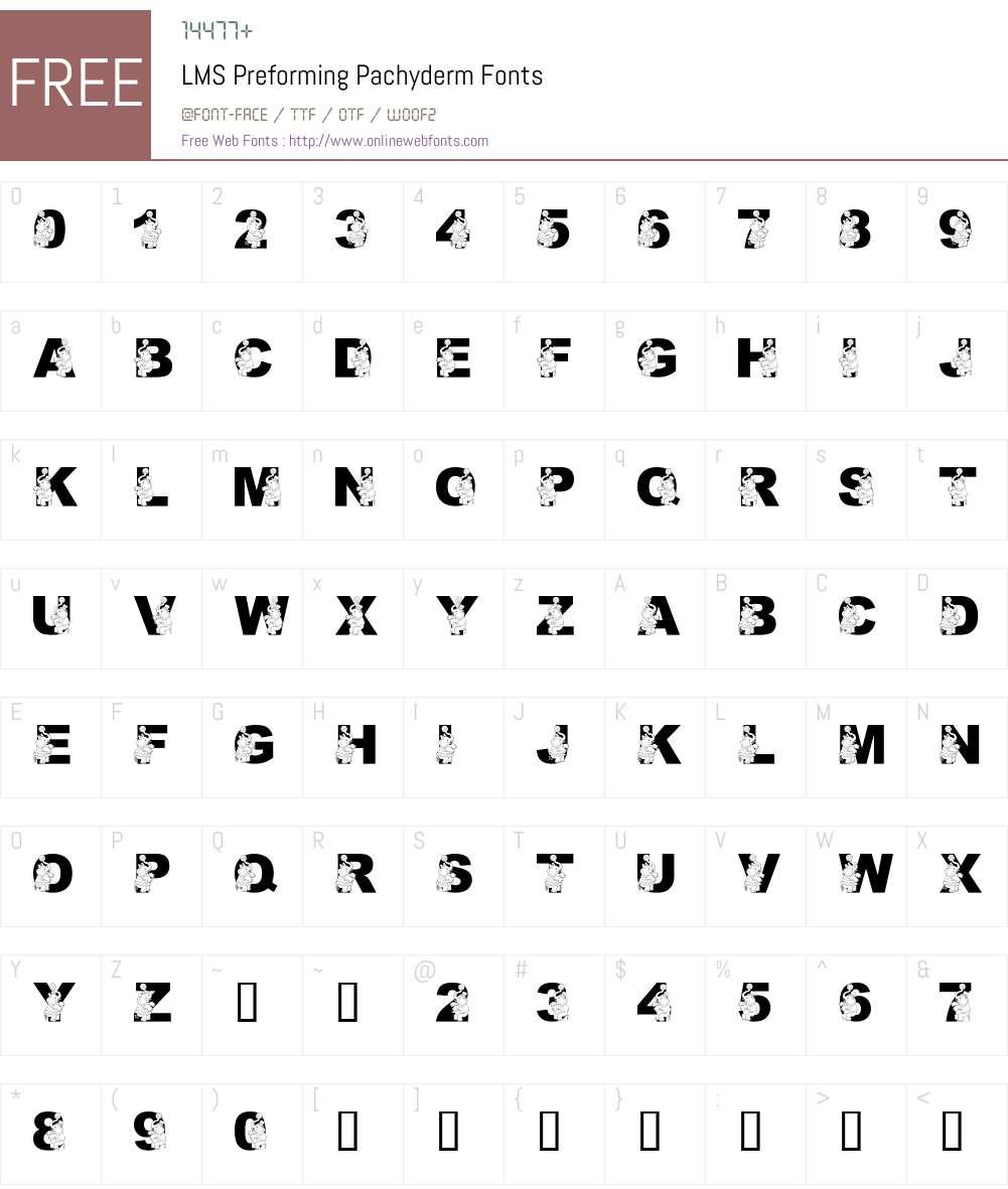 LMS Preforming Pachyderm Font Screenshots