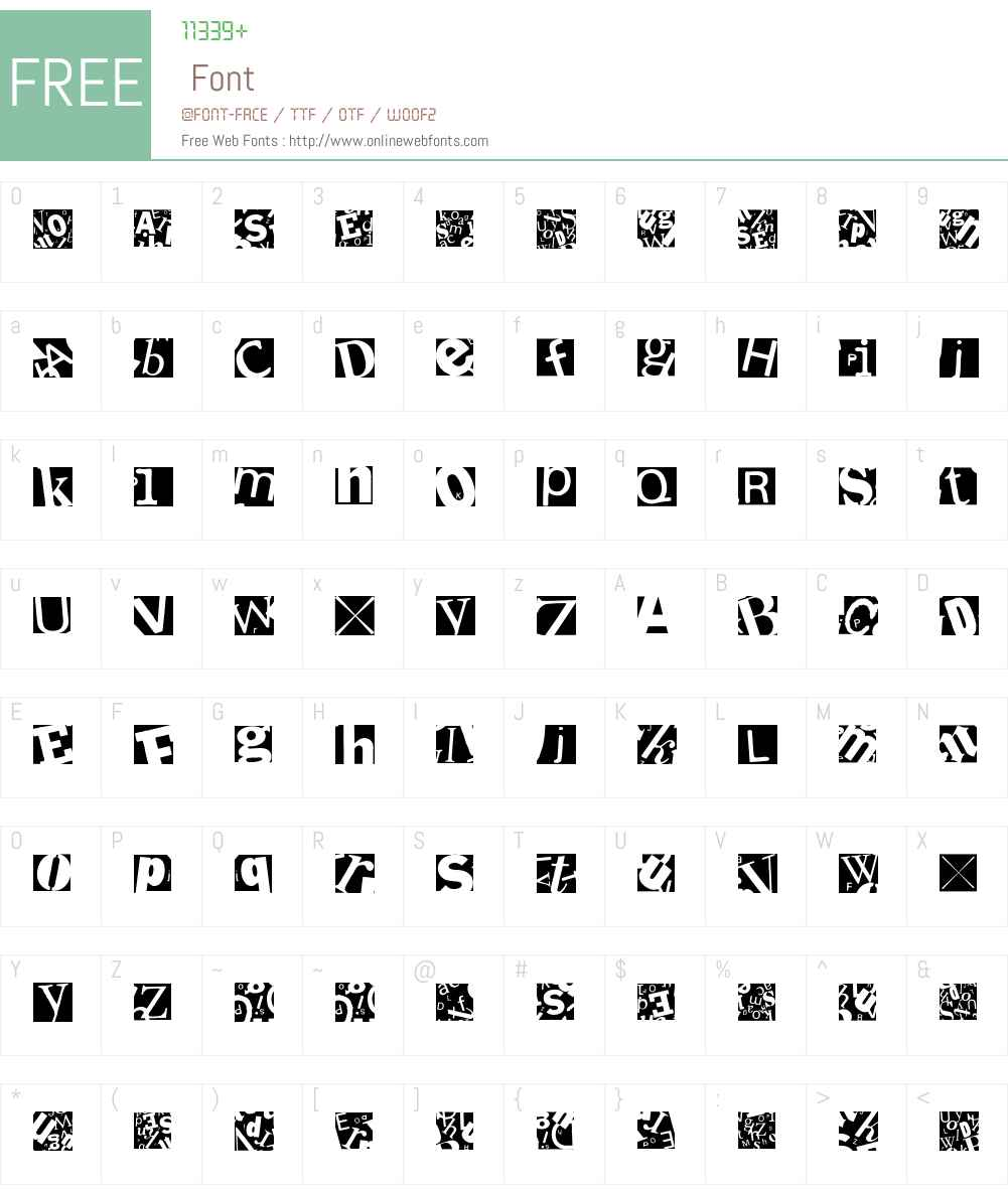 LetterSoupMainz Font Screenshots