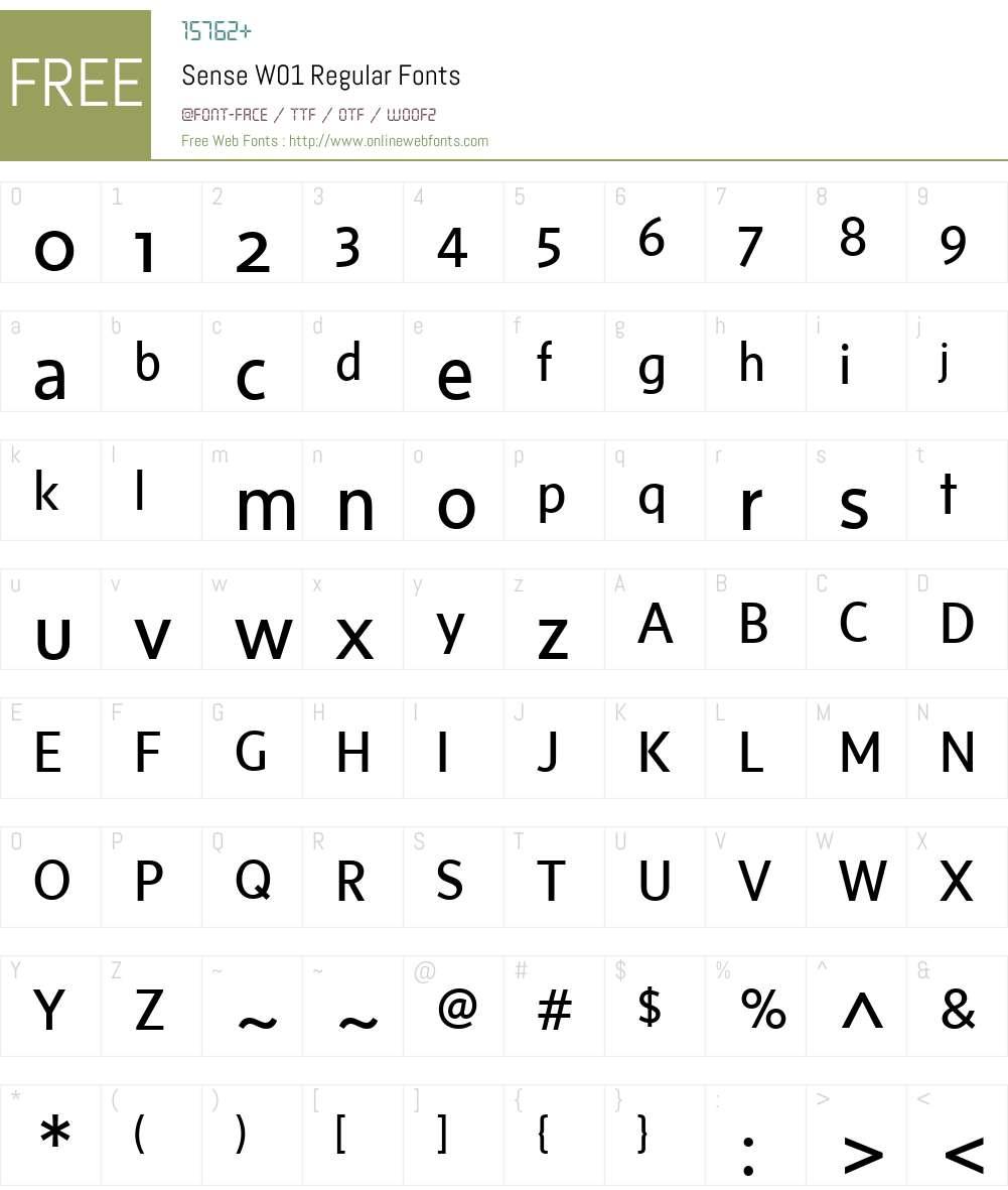 SenseW01-Regular Font Screenshots