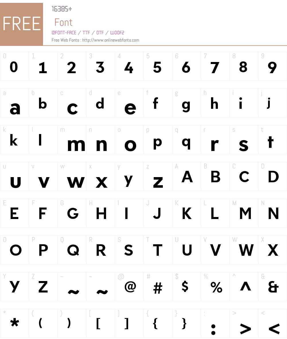 NeologyDeco-Bold Font Screenshots