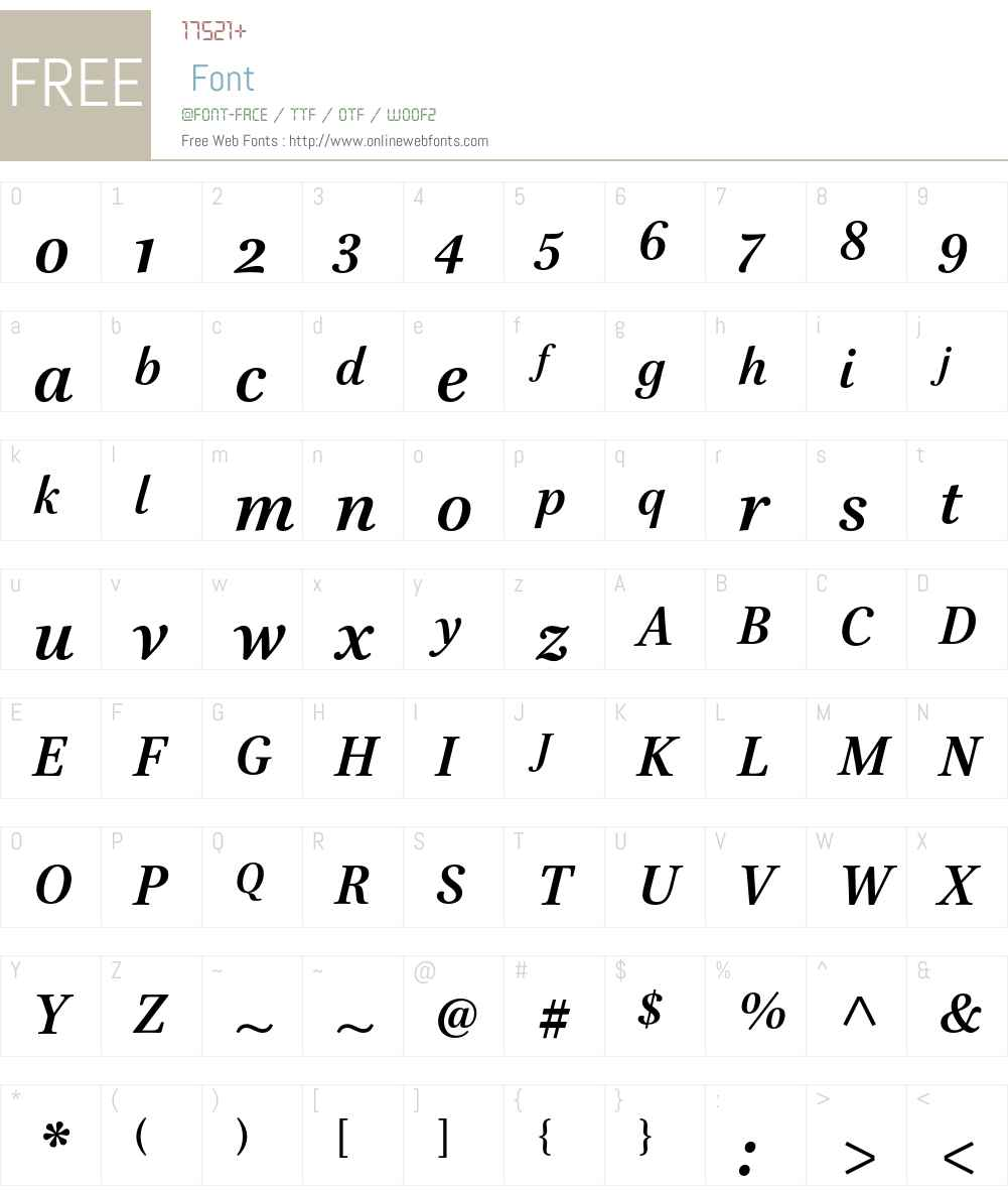 Brill Font Screenshots