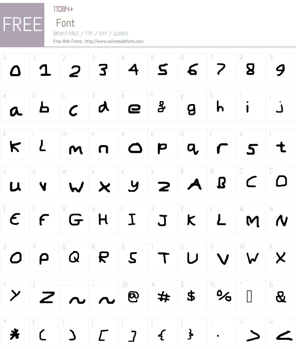 MouseWritten Font Screenshots