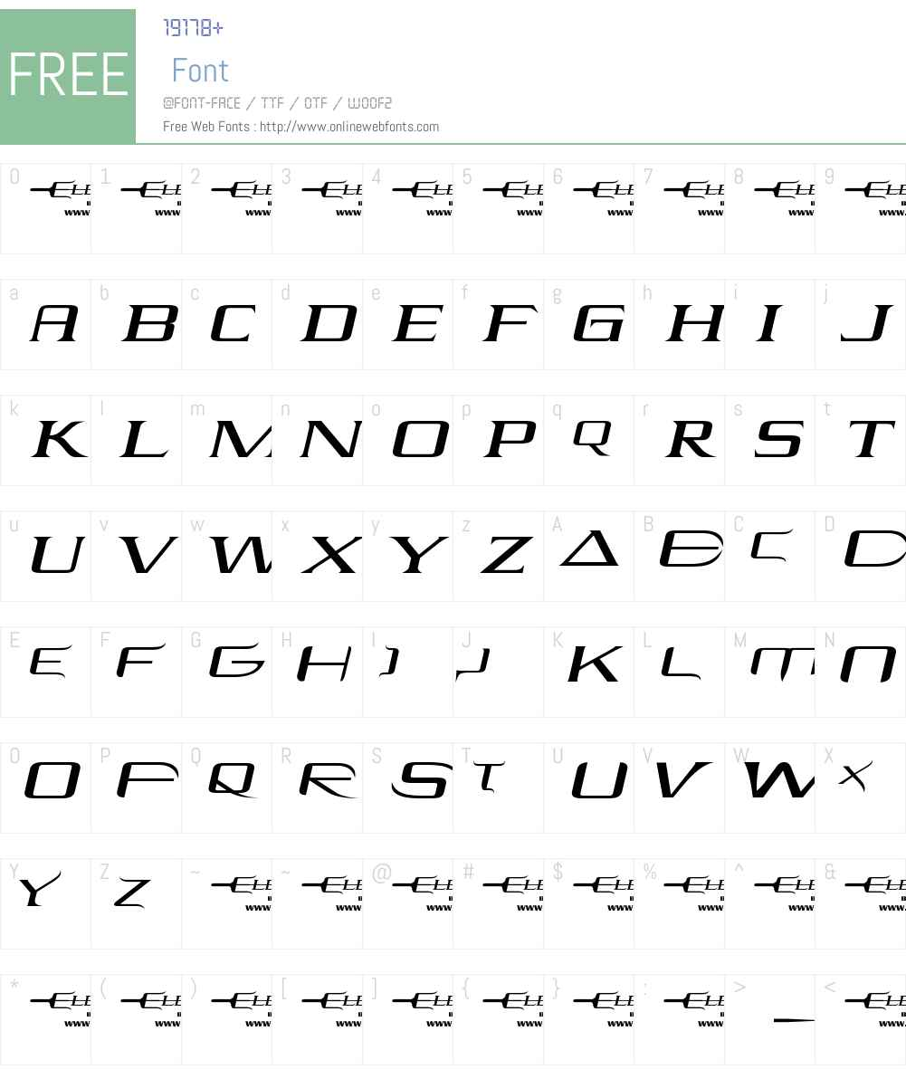 Elektra Font Screenshots
