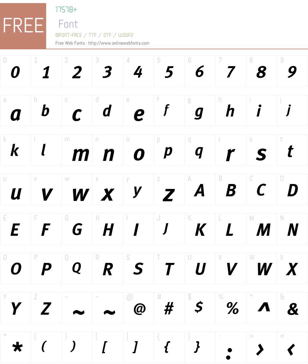 MetaBoldCELF Font Screenshots