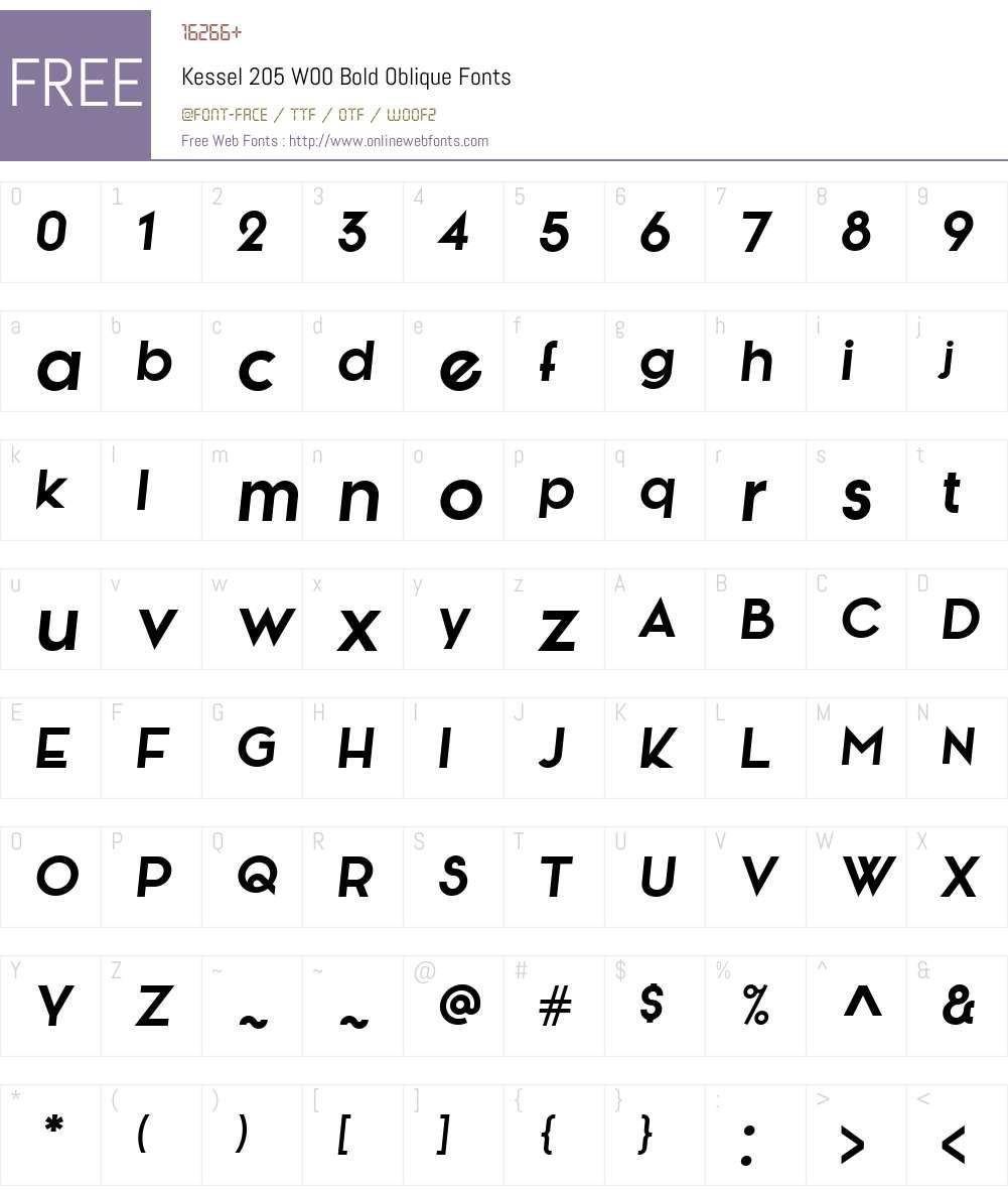 Kessel205W00-BoldOblique Font Screenshots