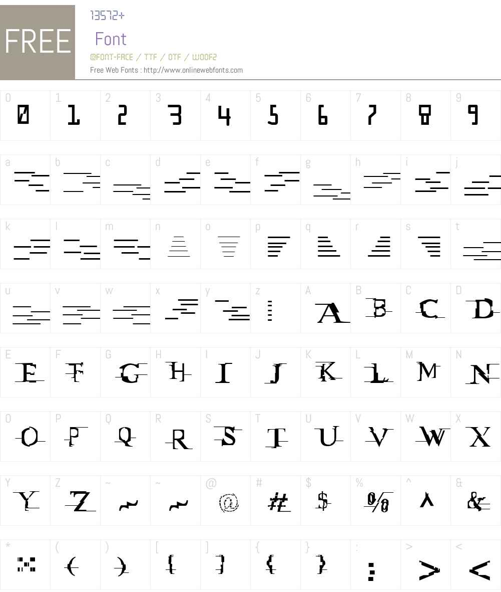 Matrix_vs_Miltown Font Screenshots