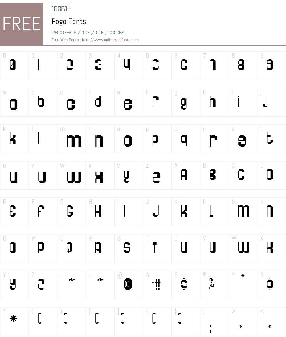 Pogo Font Screenshots