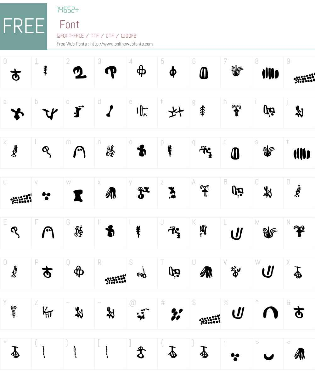 Inga Stone Signs Font Screenshots