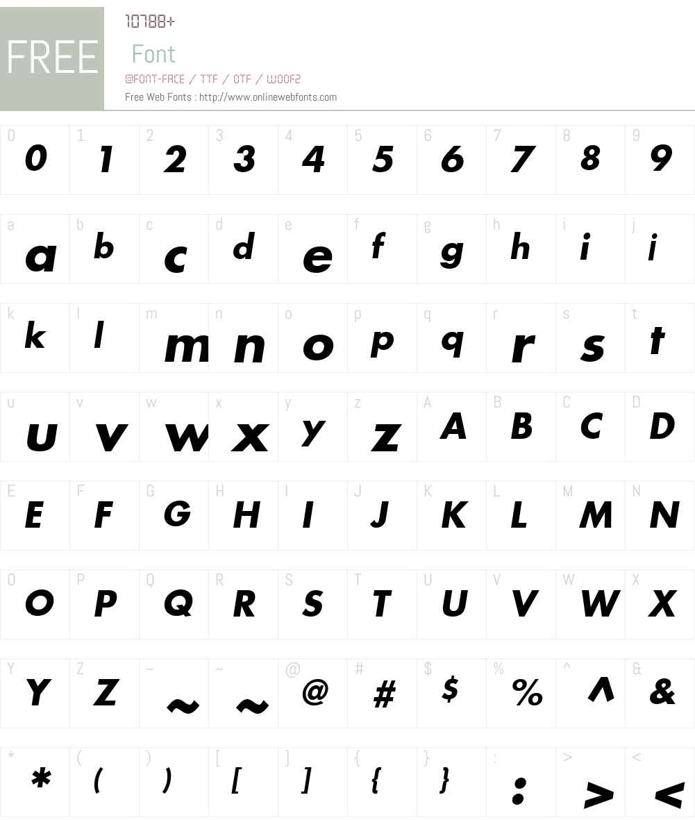 Modern Font Screenshots