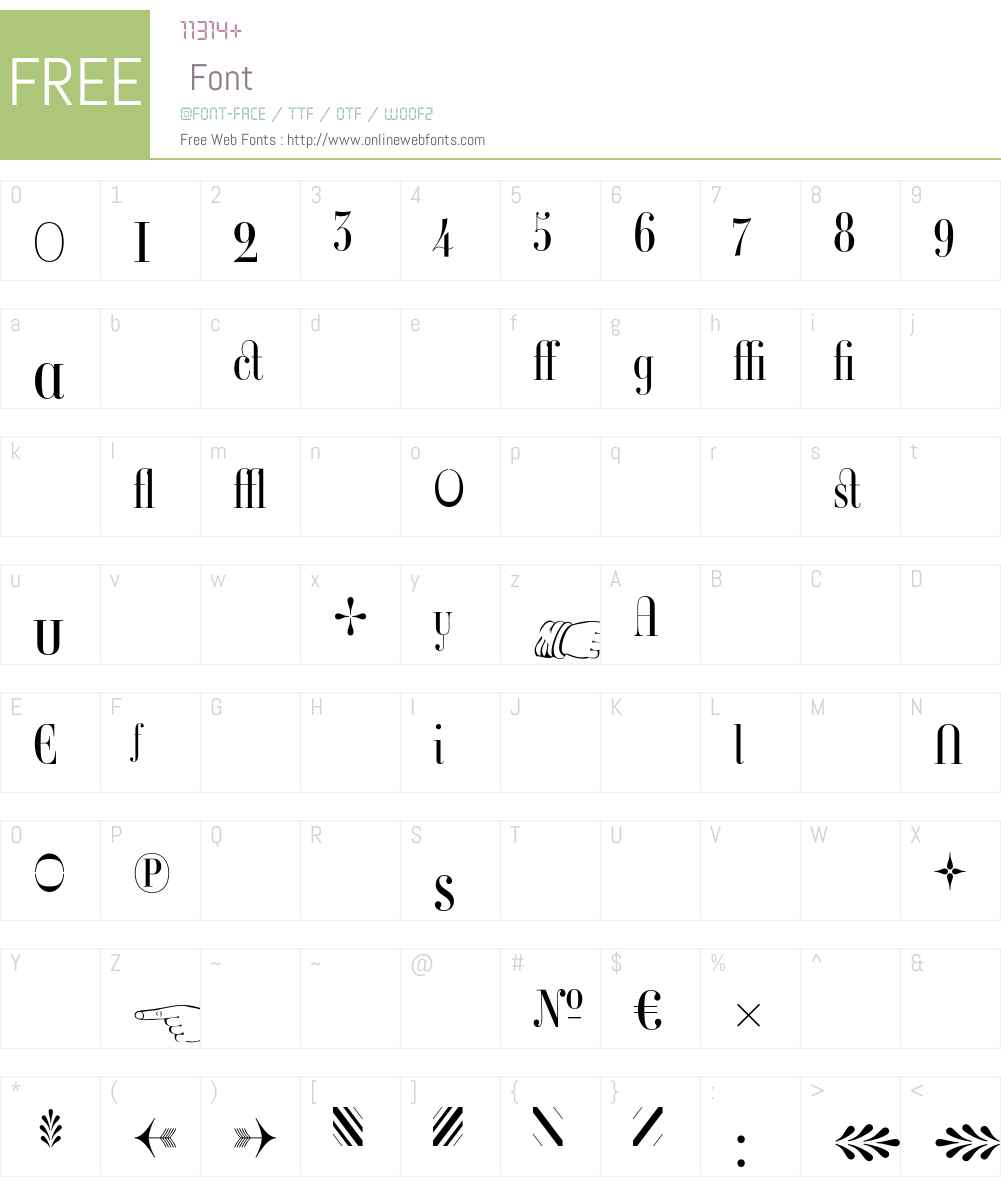 Ambroise Firmin Font Screenshots