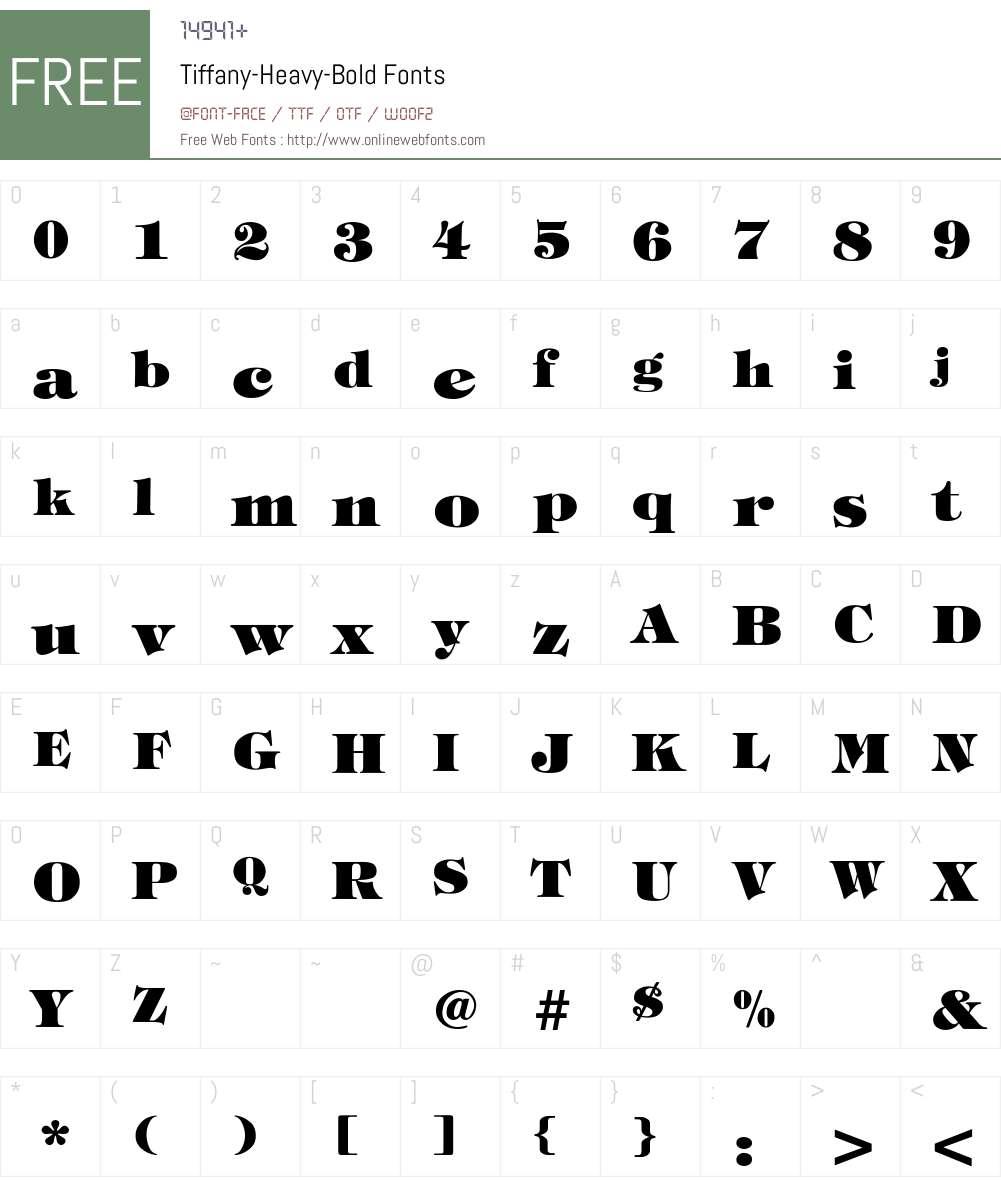 Tiffany-Heavy-Bold Font Screenshots