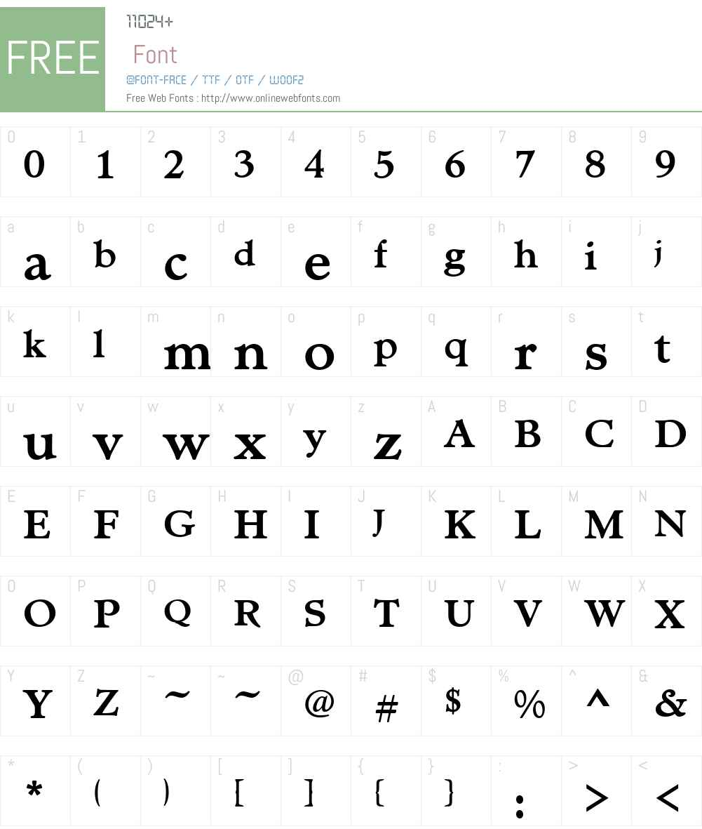 MinisterT Font Screenshots