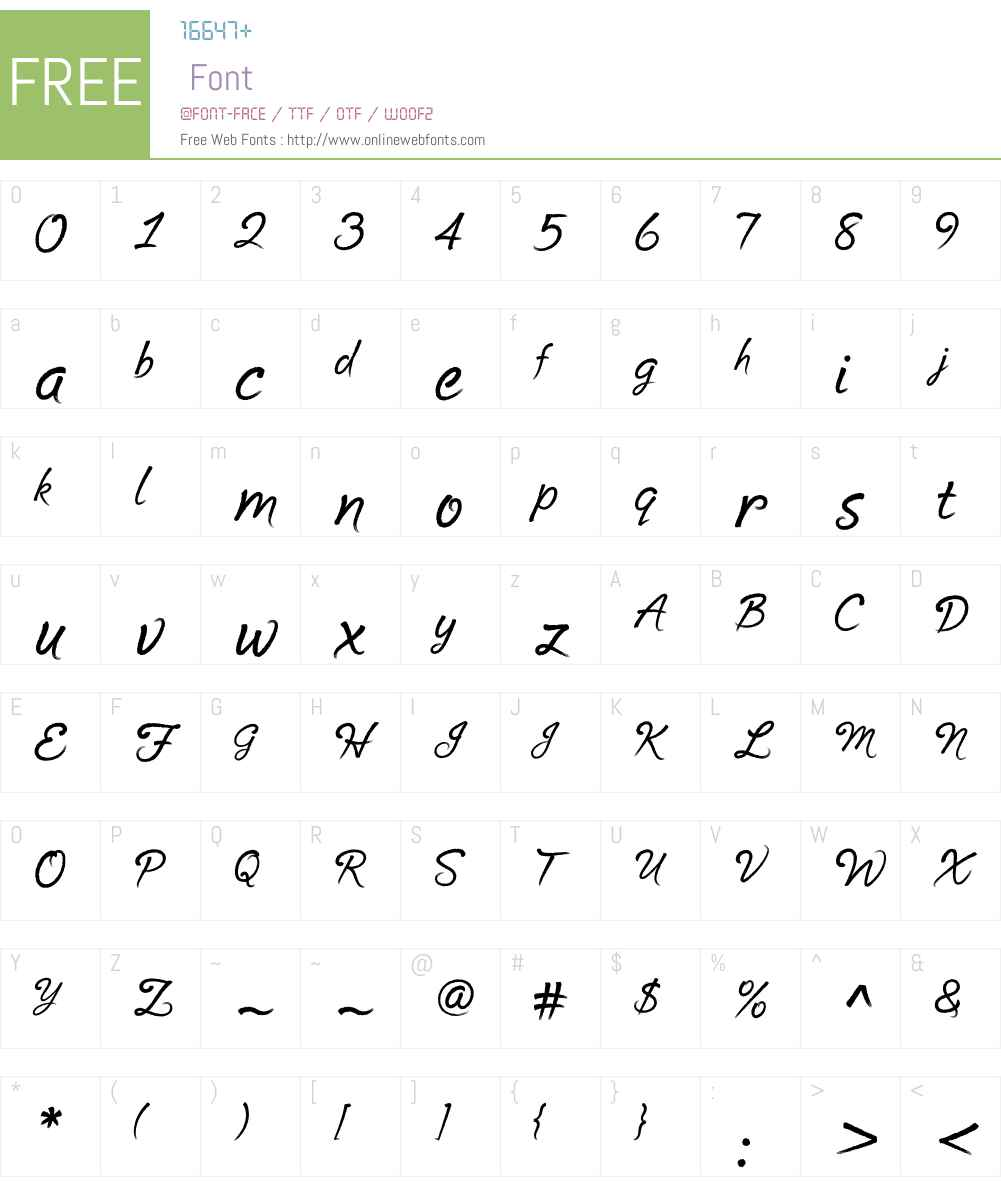 Cruz Script Font Screenshots