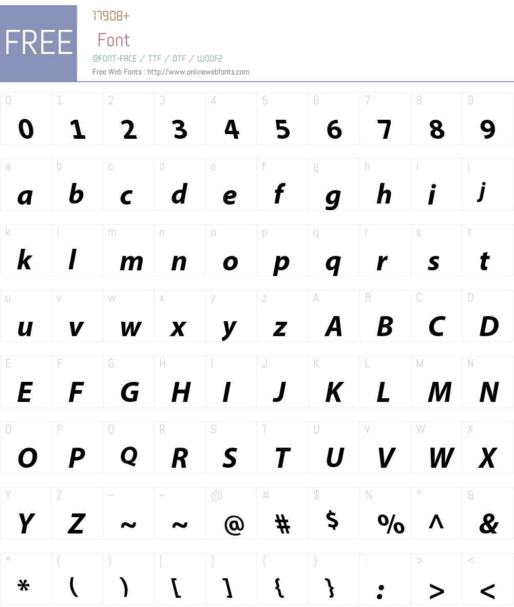 Myriad Arabic Font Screenshots