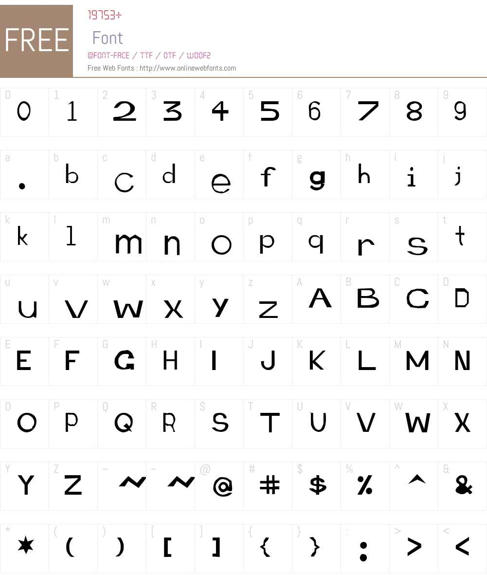 Retardo Emaciated Font Screenshots
