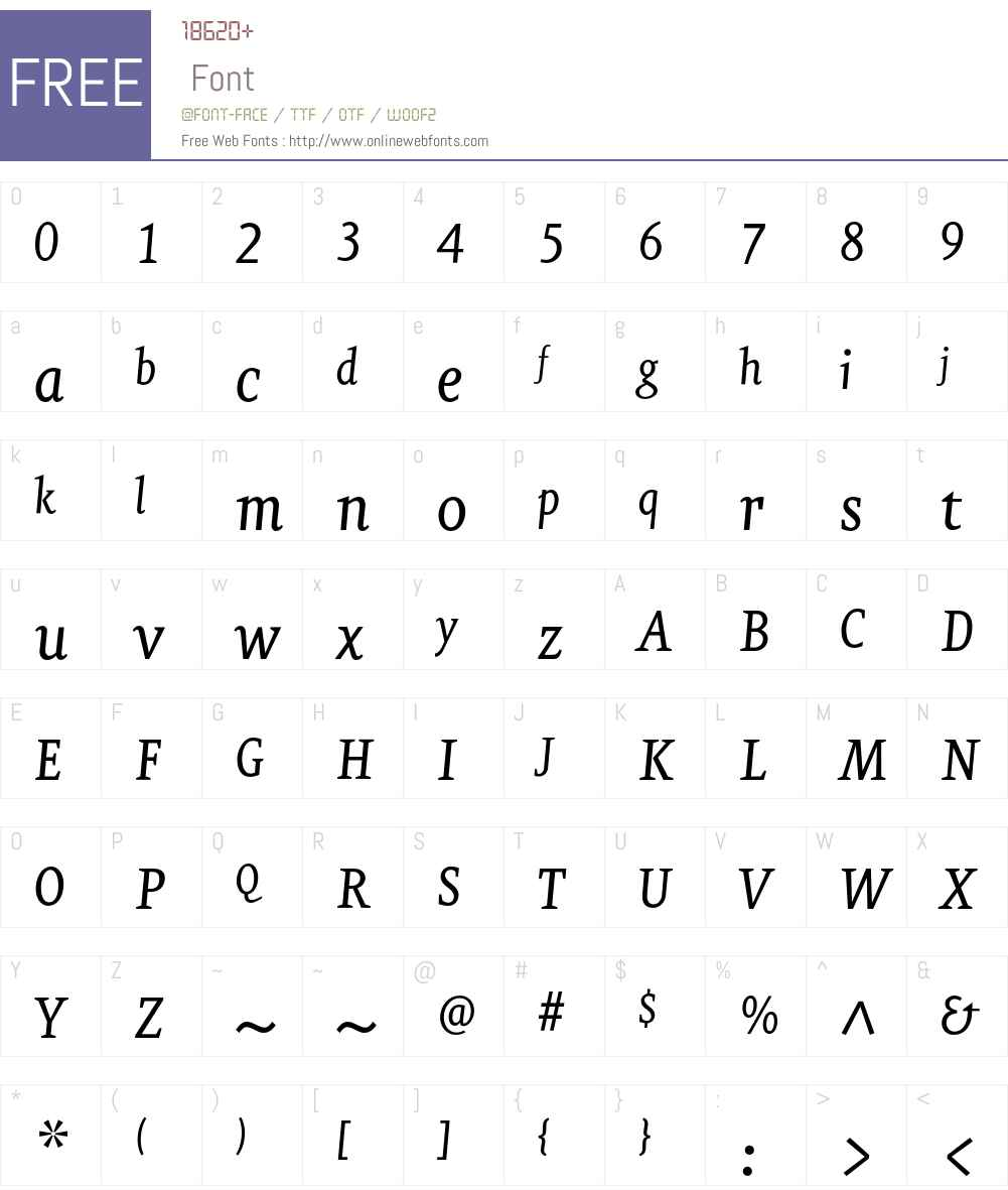 EurekaCE Font Screenshots