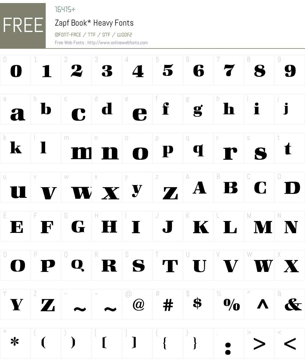 Zapf Book BQ Font Screenshots
