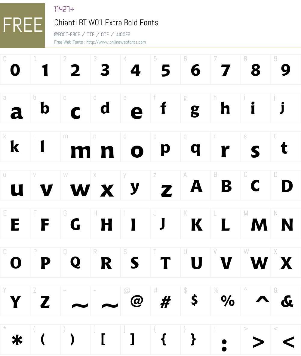 ChiantiBTW01-ExtraBold Font Screenshots