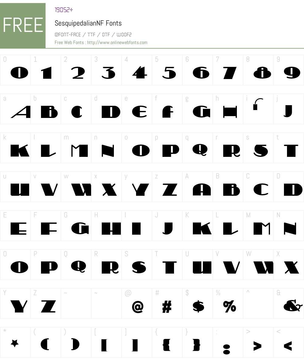 Sesquipedalian NF Font Screenshots