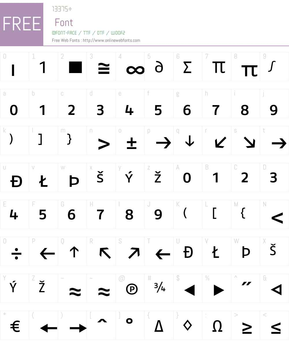 FagoEx Font Screenshots