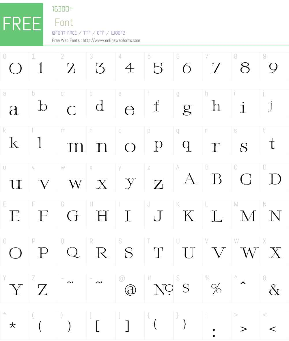 LHF Fineline Roman Font Screenshots