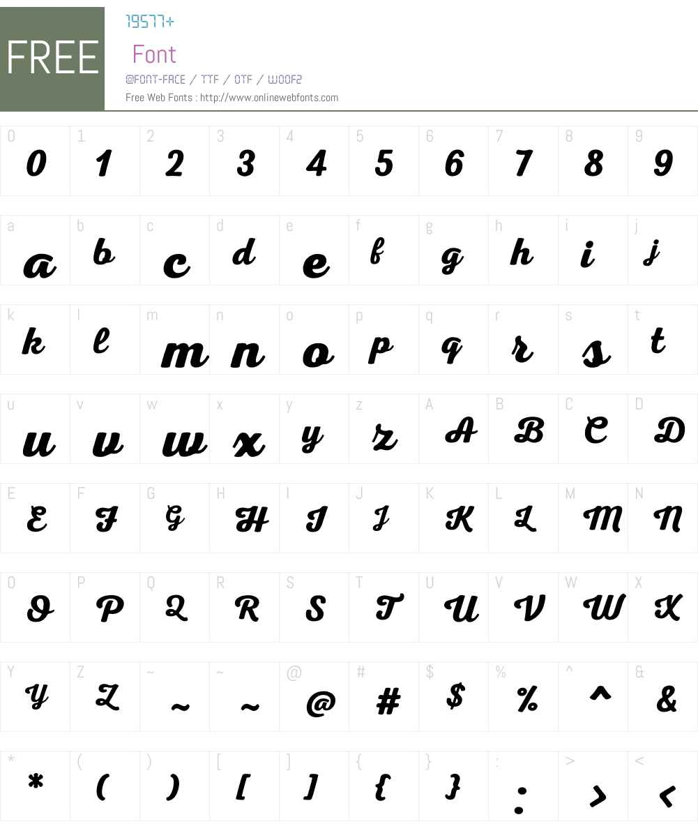 NexaRustScriptBW00-00 Font Screenshots