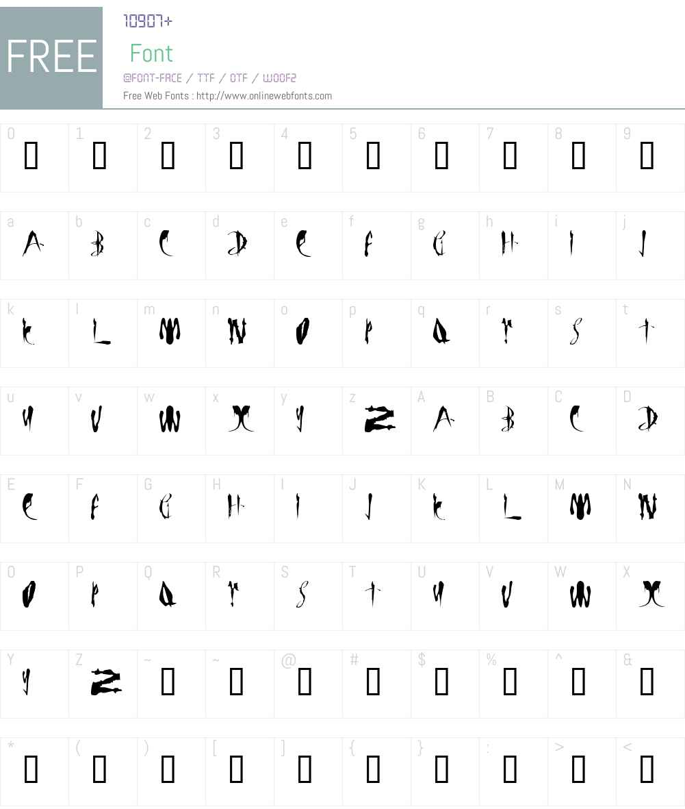 LMS Bloody Brujah Font Screenshots
