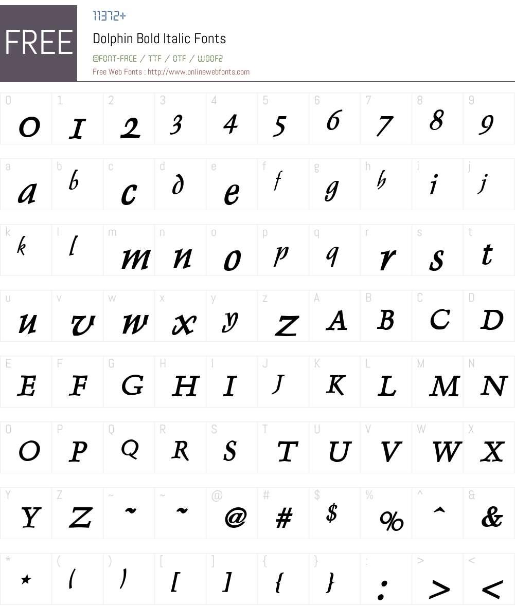 Dolphin Font Screenshots