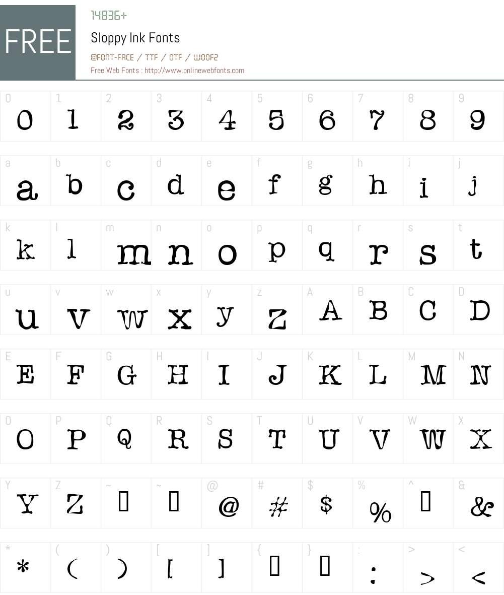 Sloppy Font Screenshots
