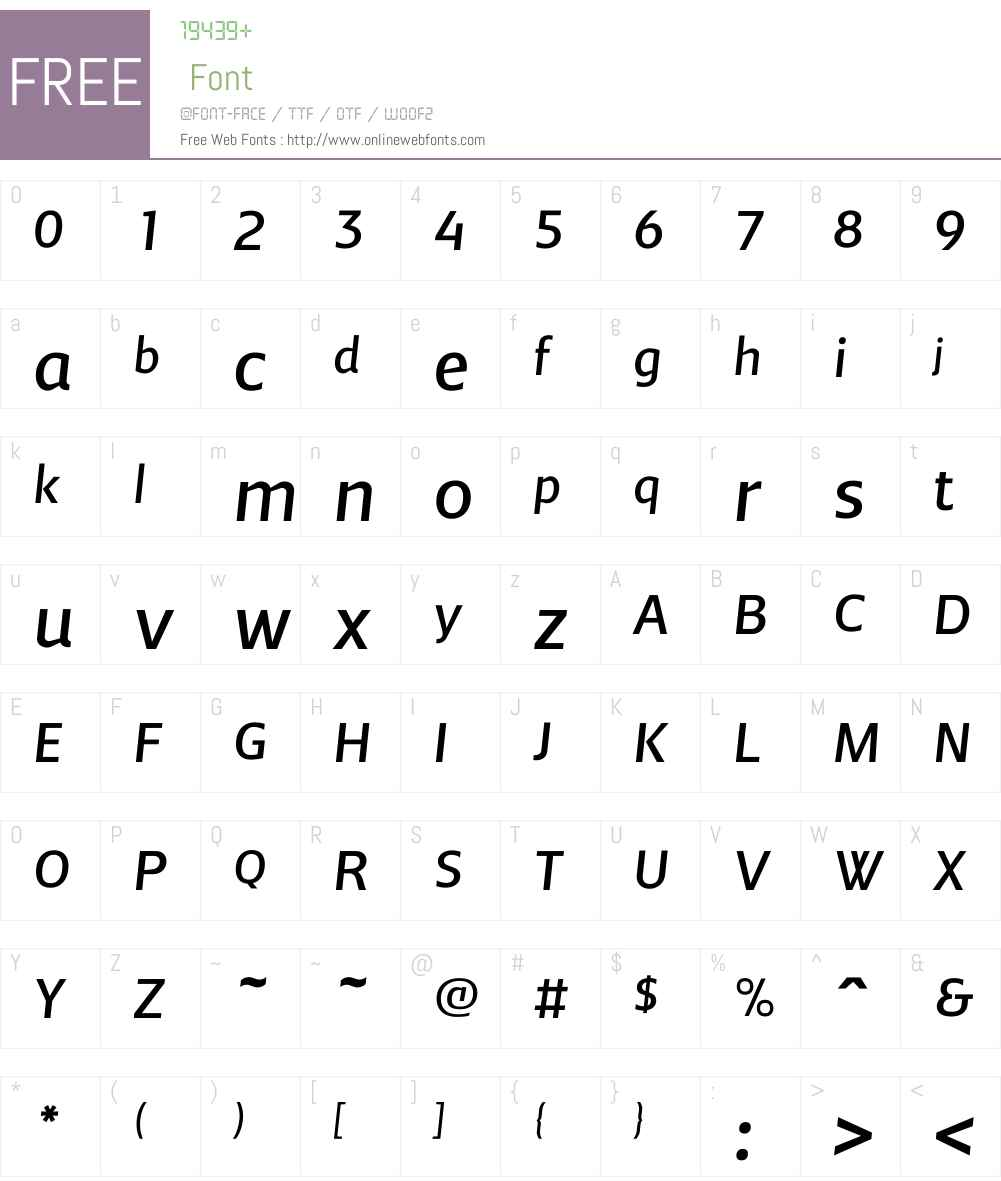 AndrewSamuelsW00-Italic Font Screenshots