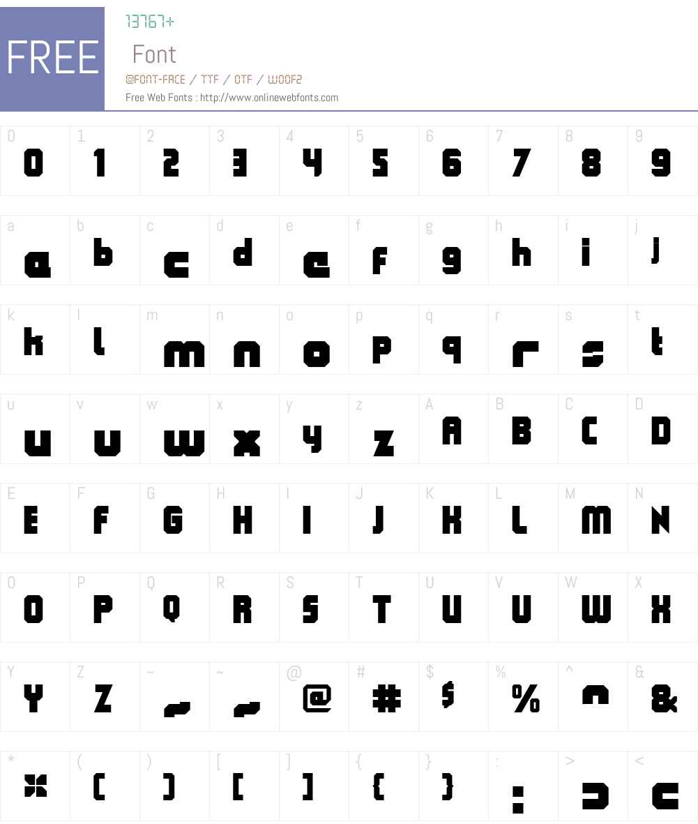 QueueBrickClosedW00-Ultra Font Screenshots