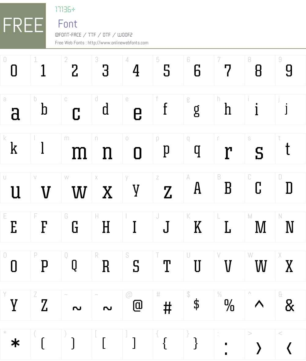 KairosW01-CondensedRegular Font Screenshots