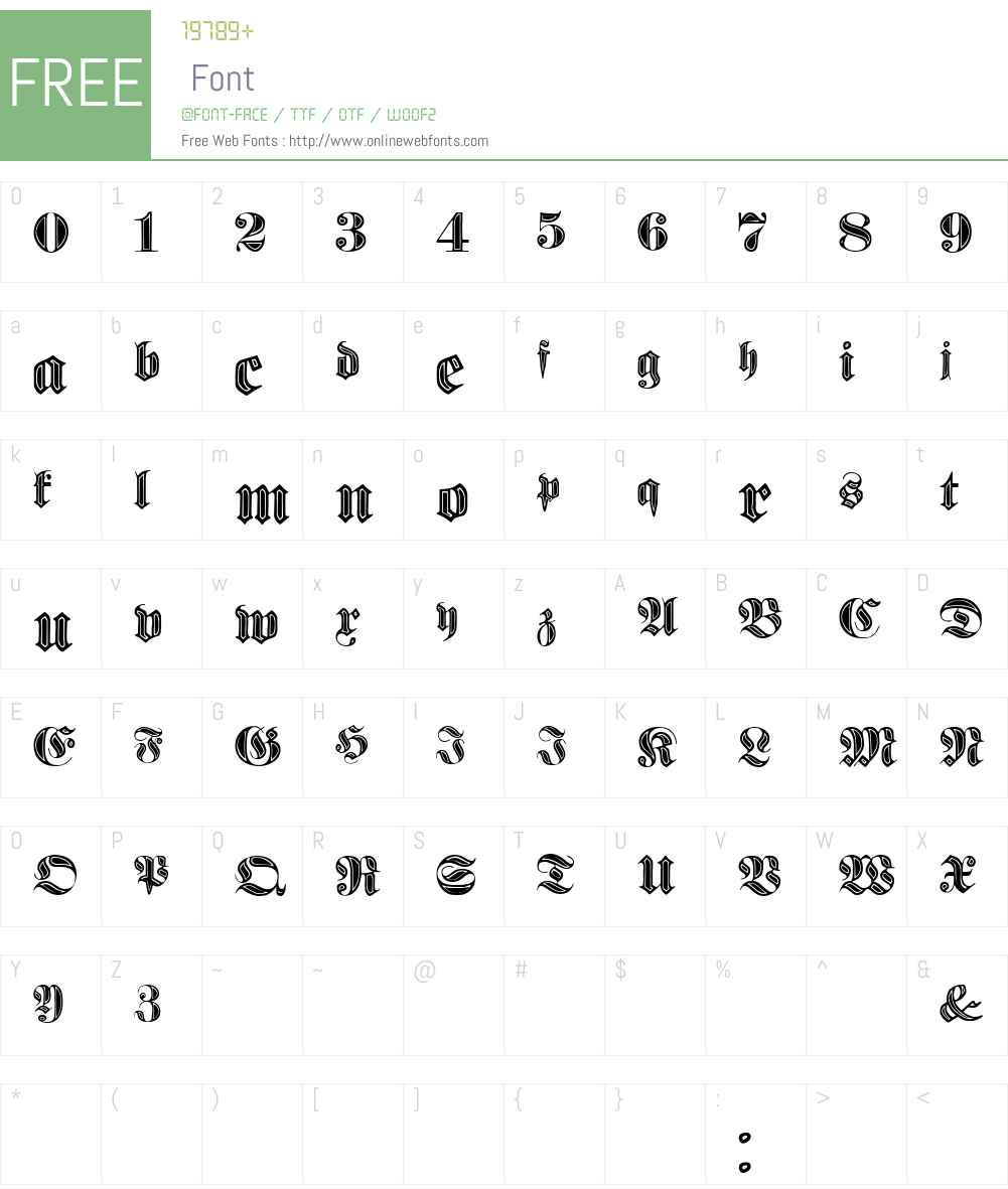 Proclamate Incised Font Screenshots