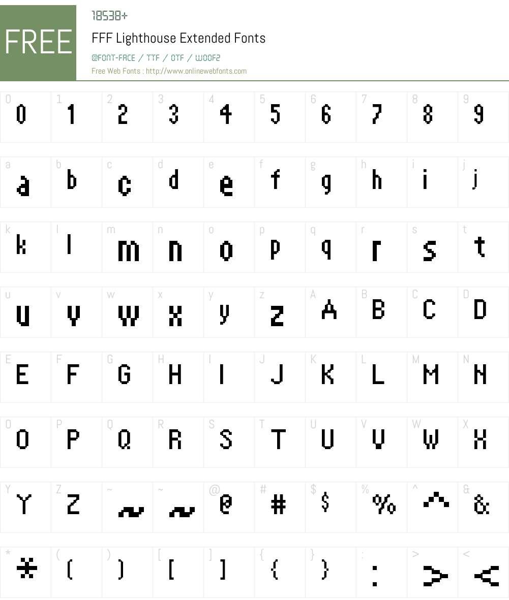 FFF Lighthouse Extended Font Screenshots