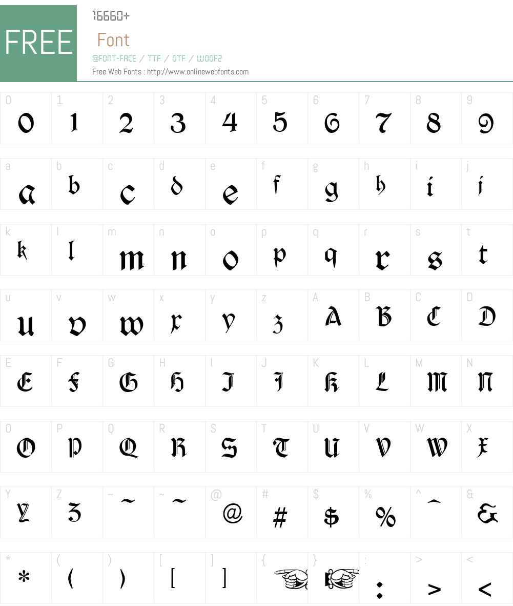 Durwent Font Screenshots