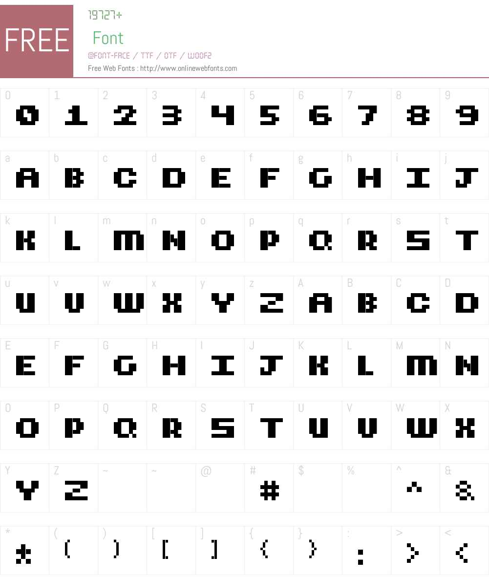 CubicFive12 Font Screenshots