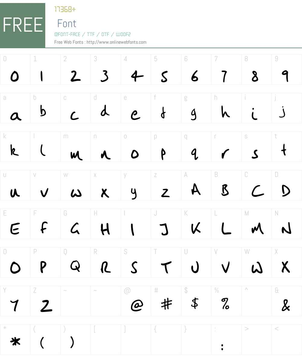 Vintlys Hand Font Screenshots