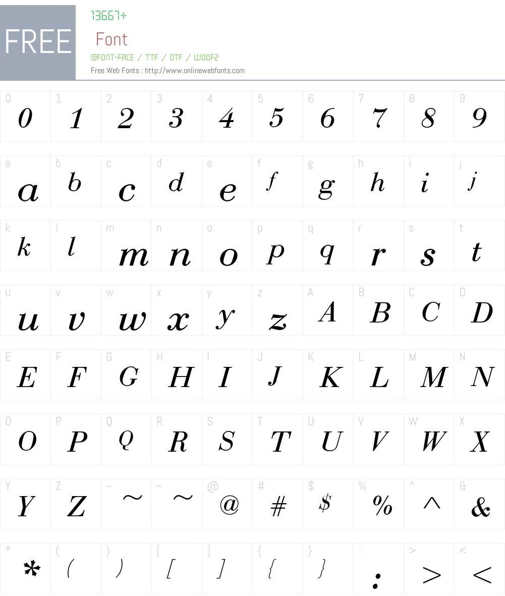 Bauer Bodoni T Font Screenshots