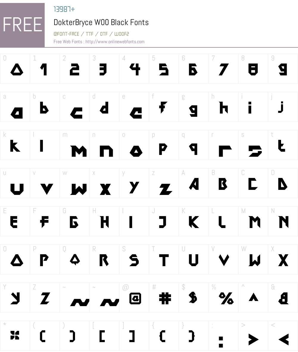 DokterBryceW00-Black Font Screenshots