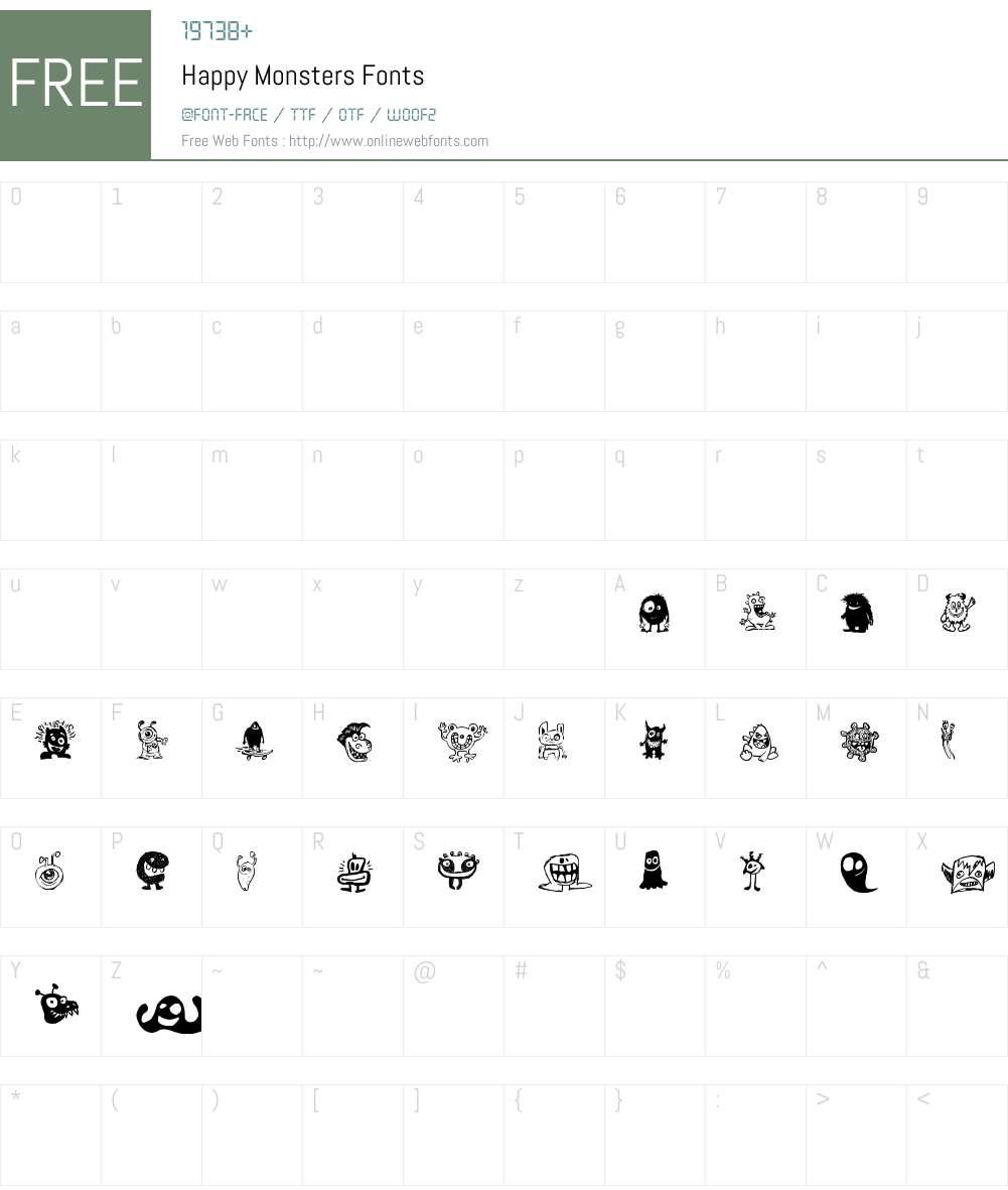 Happy Monsters Font Screenshots