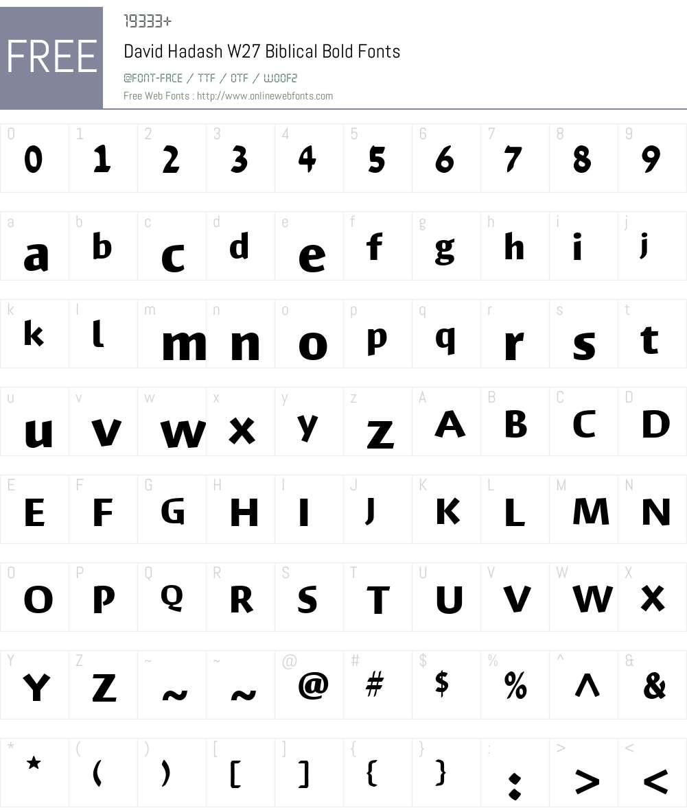DavidHadashW27Biblical-Bold Font Screenshots