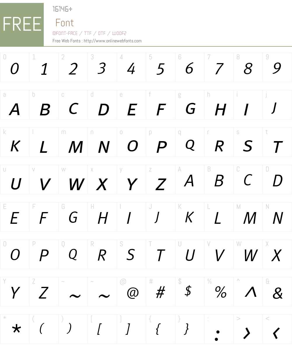 MetaNormalCyrLF-ItalicCaps Font Screenshots