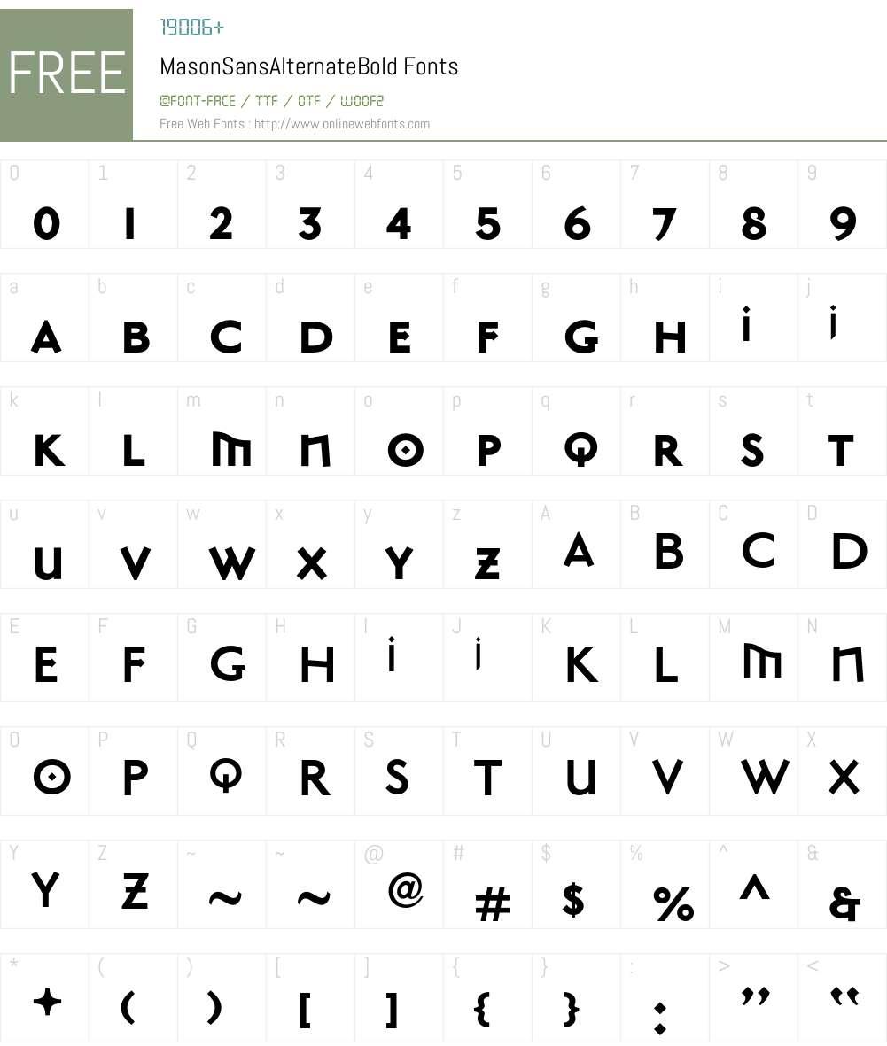 MasonSans Font Screenshots