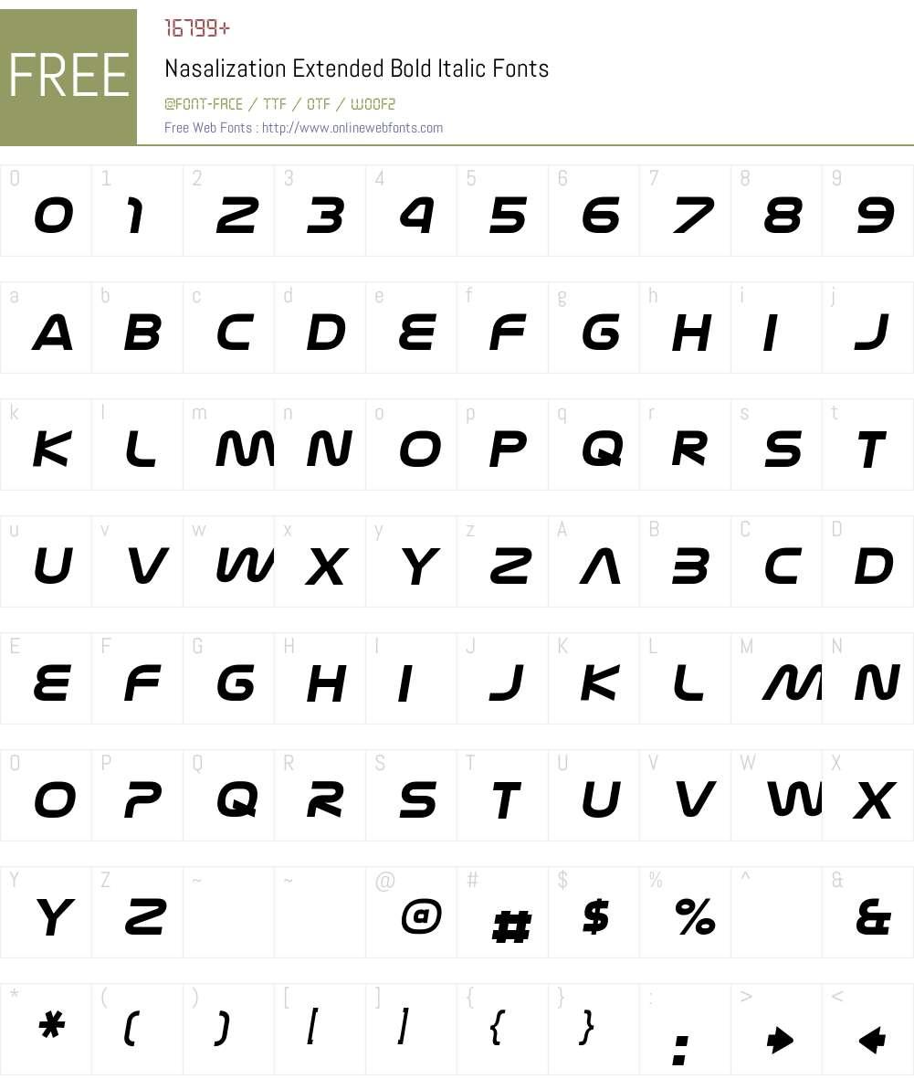 Nasalization Extended Font Screenshots