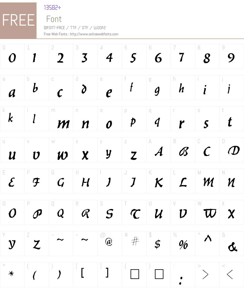 . Werewolf Font Screenshots